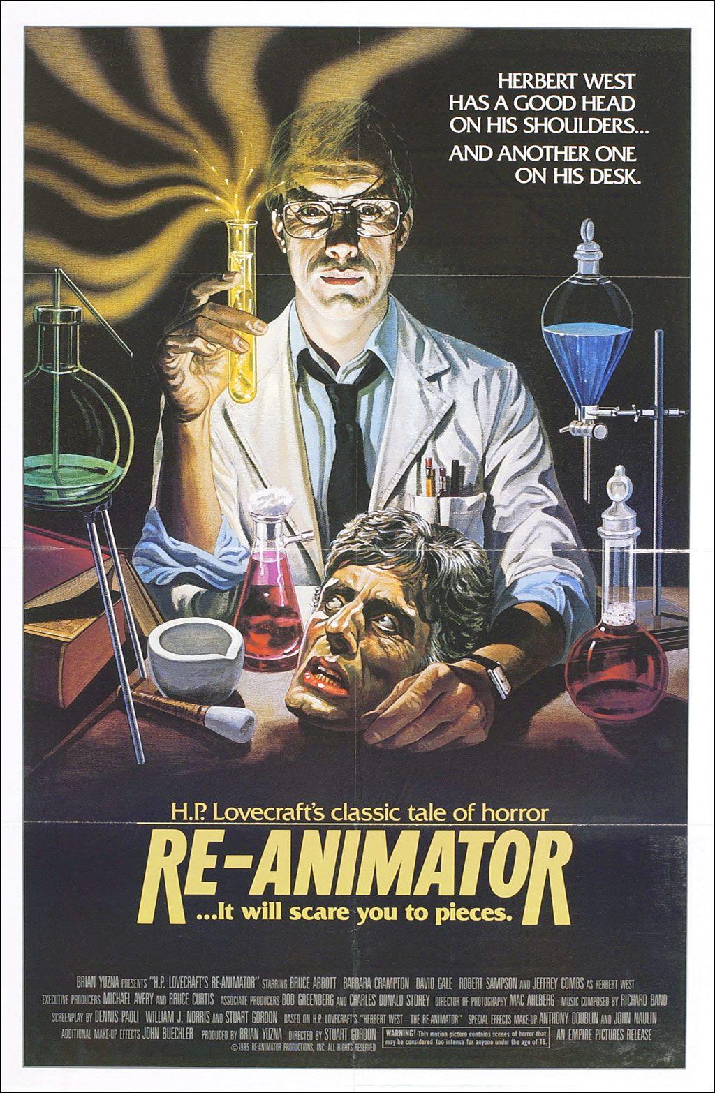 Re Animator Movie Poster Jpg 1 024 1 566 Pixels Zombie Movies Re Animator Horror Posters
