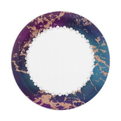 Jewel Tone Marble Party | Rose Gold Teal Purple Paper Plate | Jewel tones Marbles and Teal  sc 1 st  Pinterest & Jewel Tone Marble Party | Rose Gold Teal Purple Paper Plate | Jewel ...