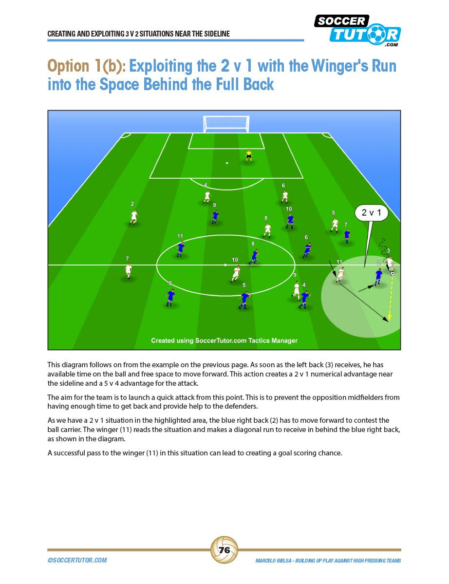 Marcelo Bielsa Tactics Creating And Exploiting 3v2 Situations 4 Practices 1 1 Pdf Shared Files Acrobat Soccer Workouts Soccer Coaching Football Drills