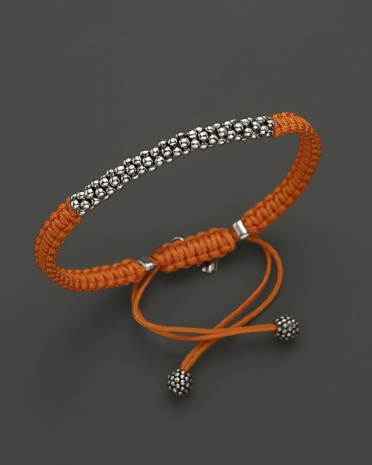 elegantes makramee armband in orange und mit silbernen kugeln braclets pinterest armband. Black Bedroom Furniture Sets. Home Design Ideas