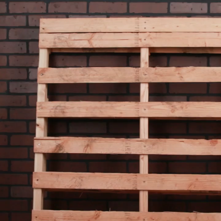 How To Transform A Wood Pallet Into A Crazy Functional Shelf