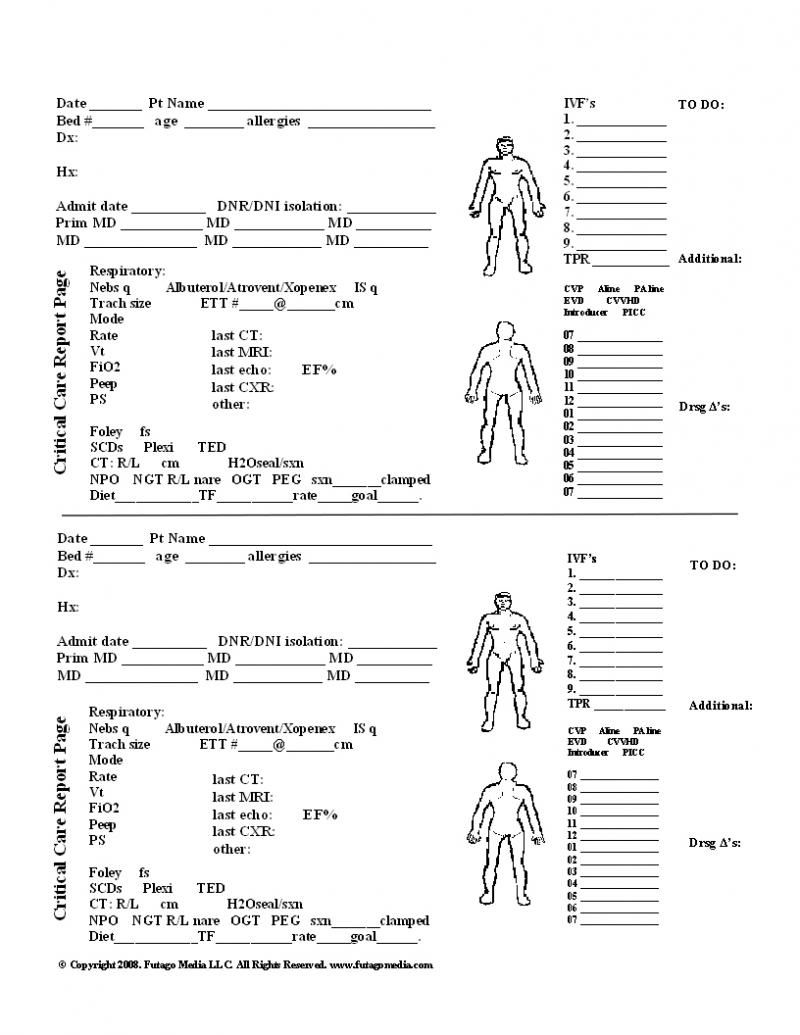 Patient Report Sheet Templates Calep.midnightpig.co