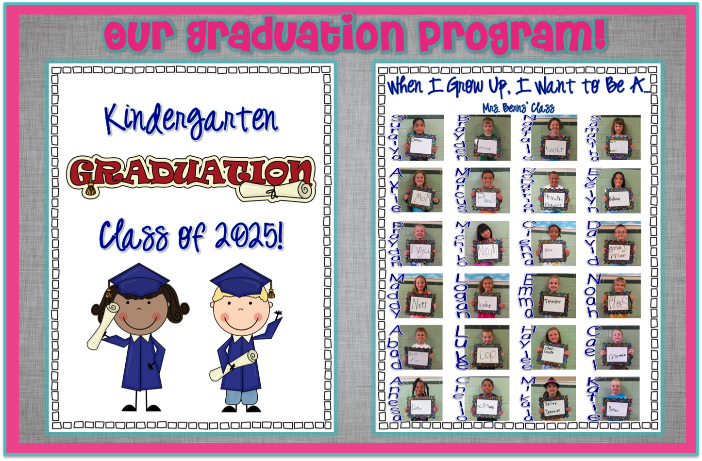 Kindergarten Graduation Program  Kindergarten Graduation  A Very