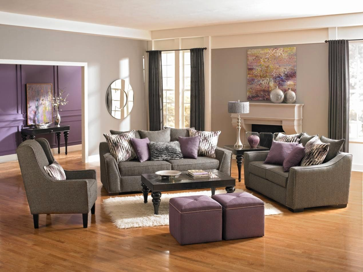 Cream And Purple Living Room Idea Luxury 9 Benefits That E With Buying New Furniture Fo Purple Living Room Living Room Decor Gray Living Room Color Inspiration