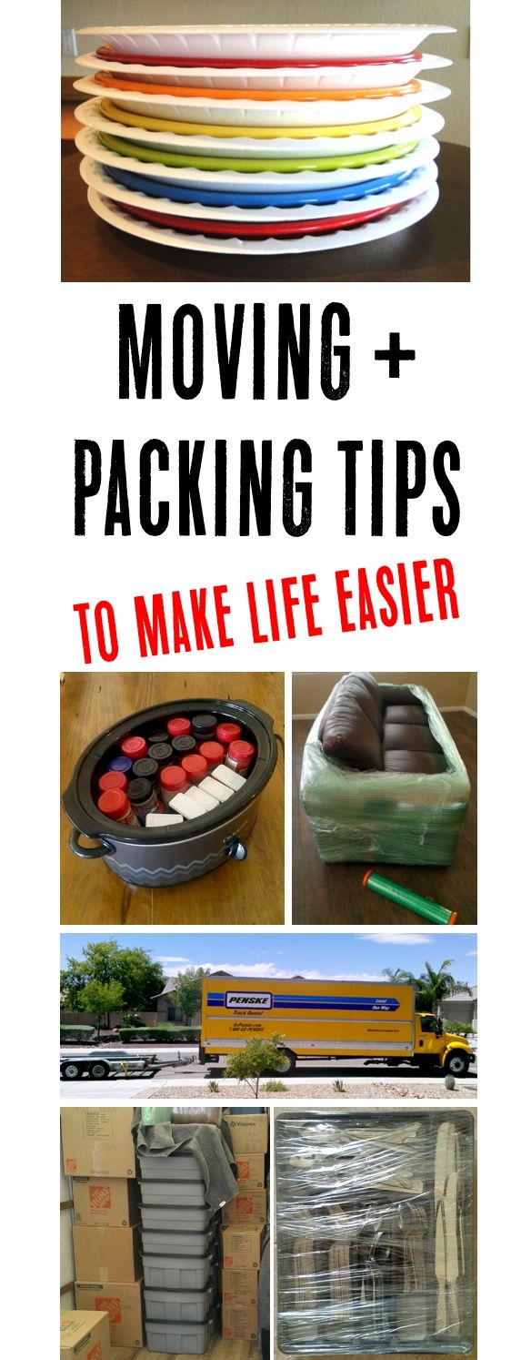 Moving Tricks And Tips Huge List Of Packing Ideas To Make Life Easier For Your Next Move Thefrugalgirls Co Moving Hacks Packing Moving Packing Moving Tips