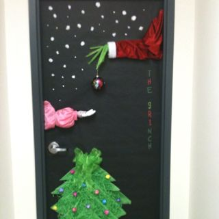 Red Ribbon Week Door  Christmas classroom, Christmas door