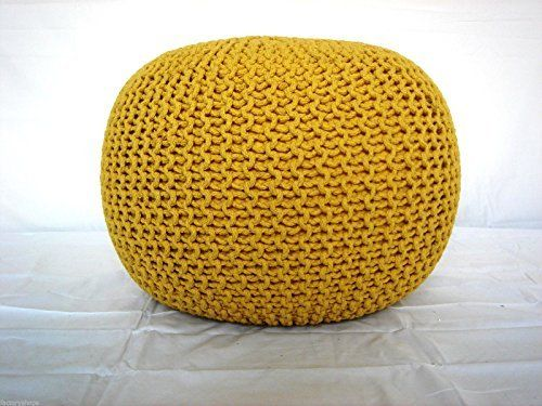 Large 60cm Knitted Pod Pouffe Foot Stool Ottoman