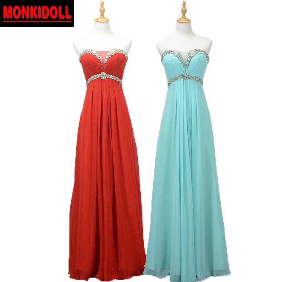 Click to Buy << Gorgeous Cheap Mint Green Prom Dresses Long Chiffon ...