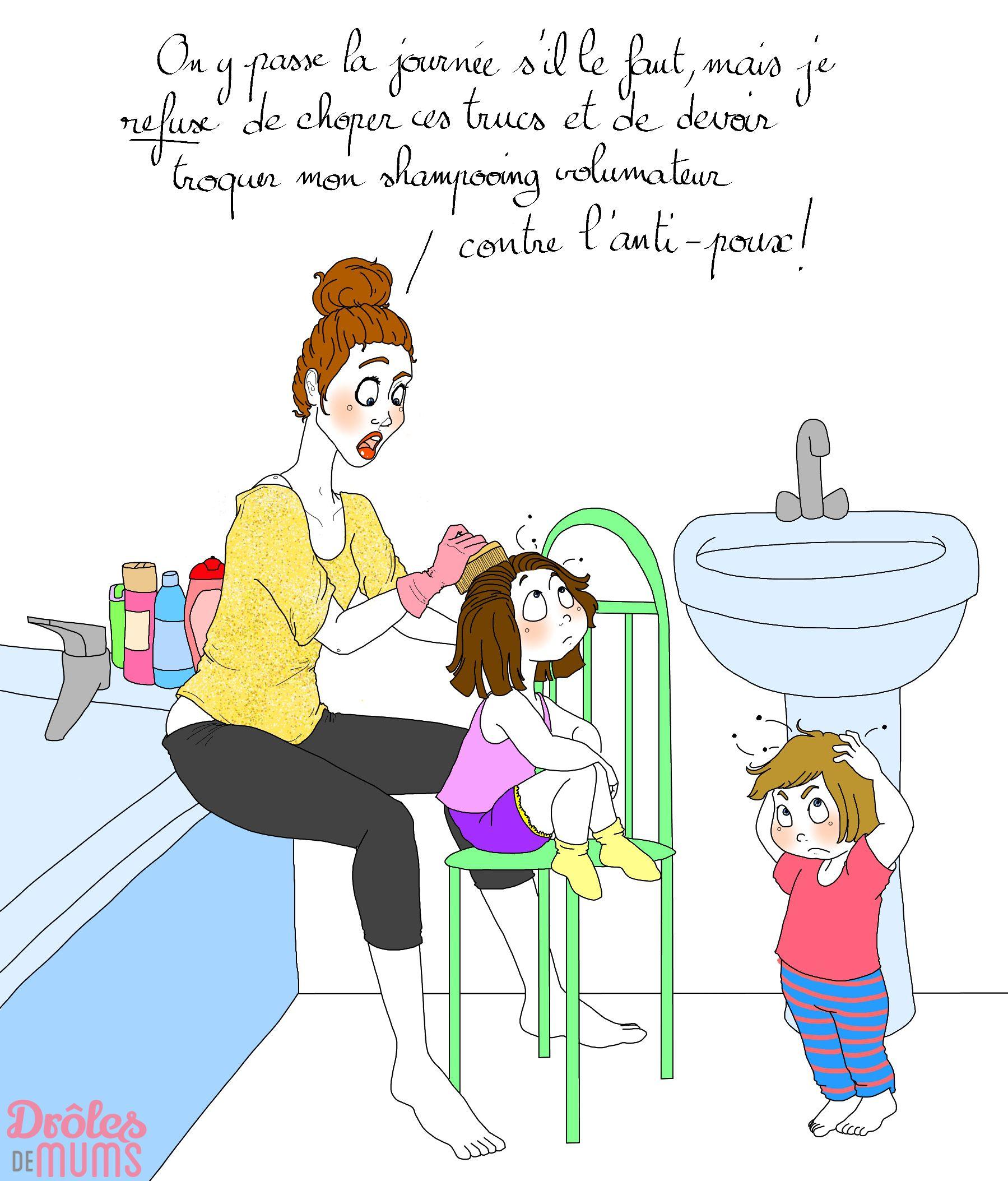 Parce les poux eux aussi font leur rentr e voici la liste - La rentree des mamans ...
