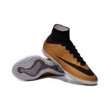 eaac7c062a7ea Nike MercurialX Proximo IC Metallic Oro Grain Negro zapatillas de fútbol  baratas Cheap Football Shoes