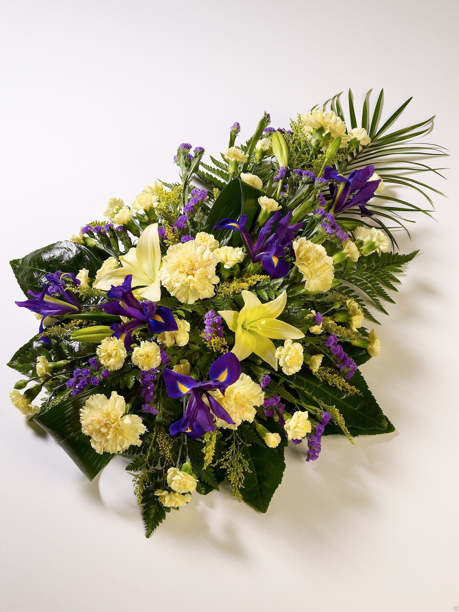 Lily iris teardrop spray funeral flowers funeral flowers lily iris teardrop spray funeral flowers dhlflorist Image collections