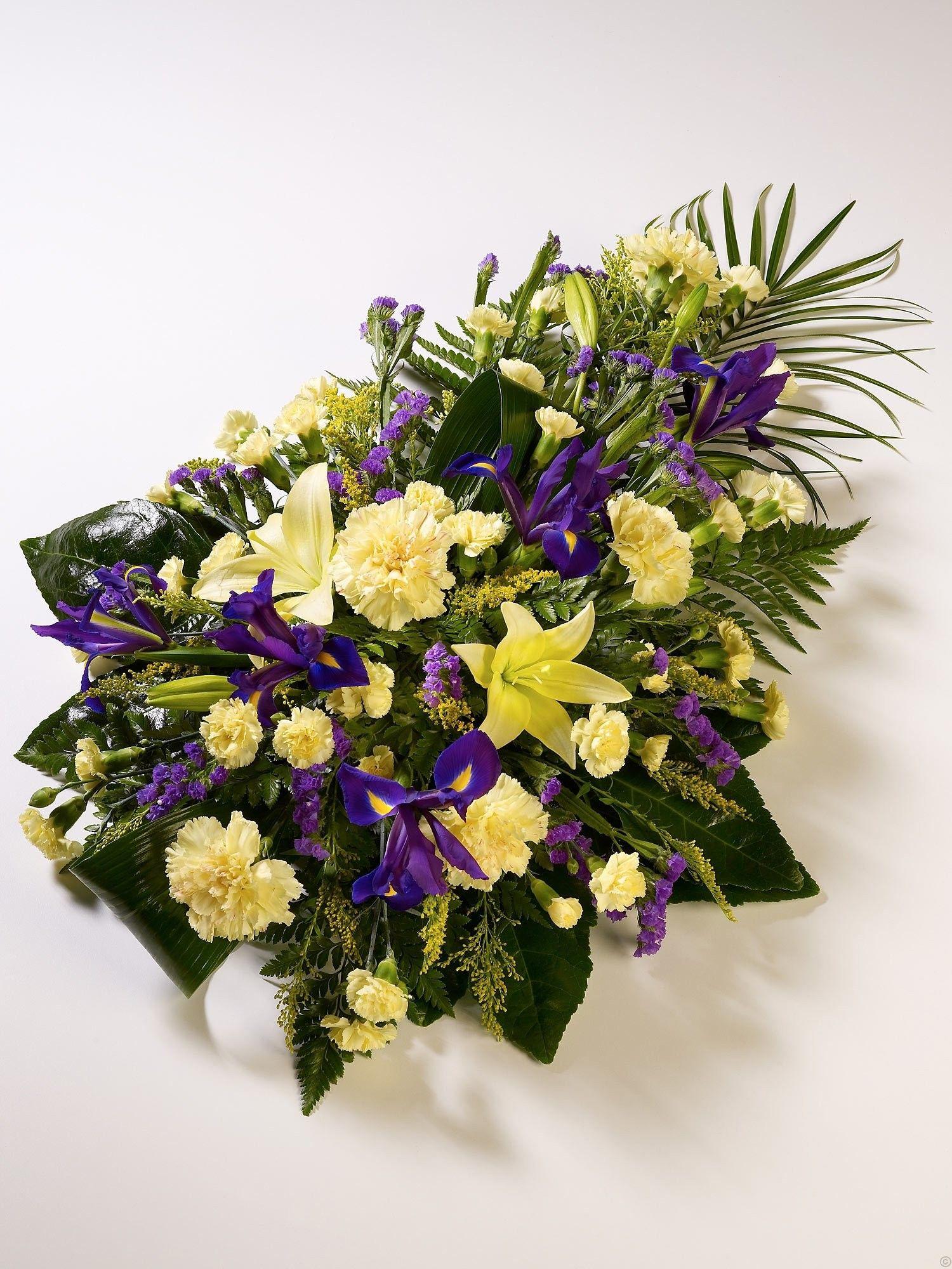 Lily Iris Teardrop Spray Funeral Flowers Funeral Flowers