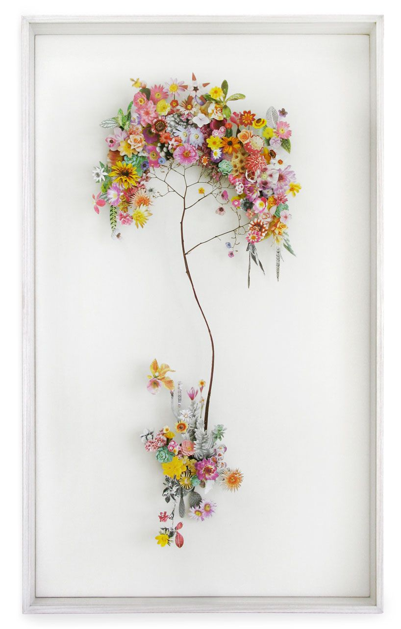 Collaged Flowerscapes By Anne Ten Donkelaar Construction And Flower