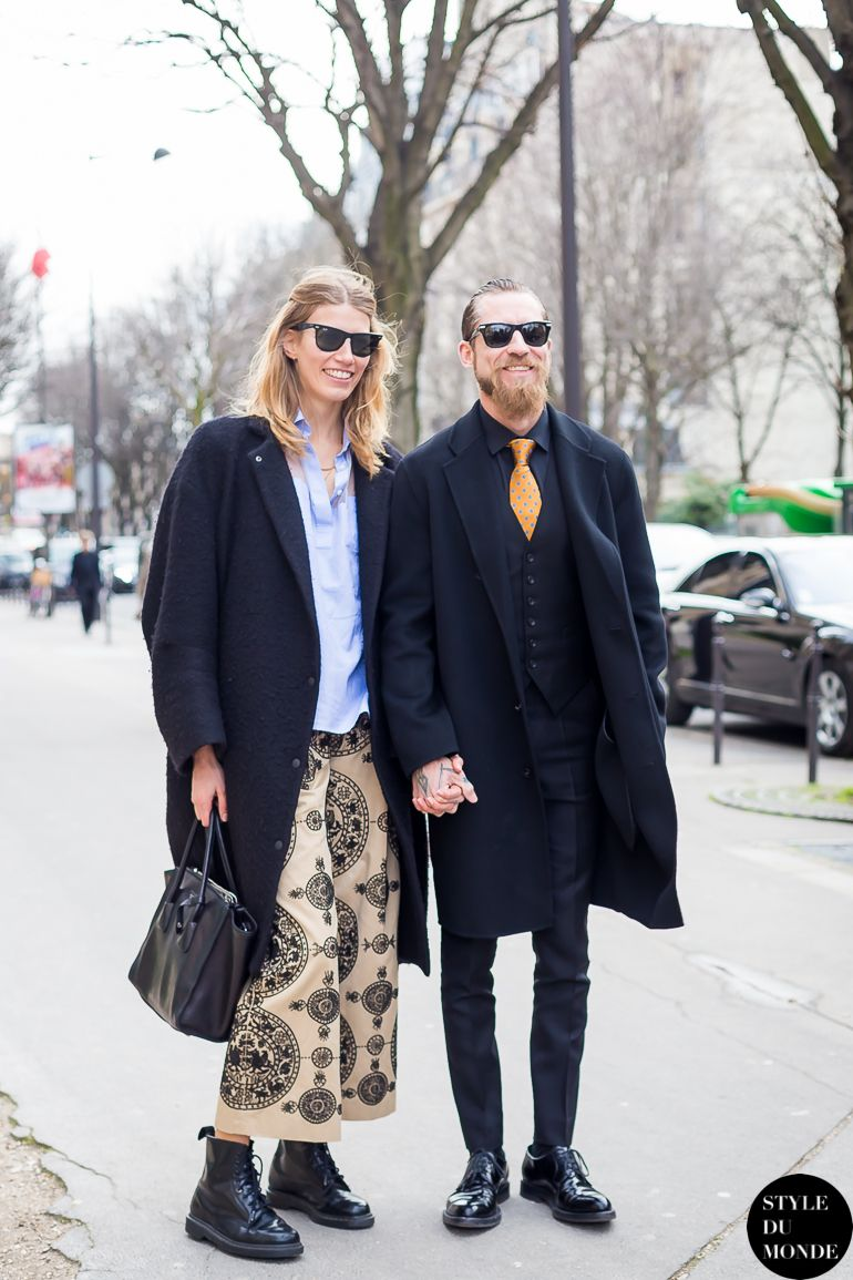 New post on http://www.styledumonde.com/ with #HarpersBazaarGermany #styleeditor #VeronikaHeilbrunner @veronikaheilbrunner & #Mytheresa #buyingdirector #JustinOShea @justinoshea at #parisfashionweek #pfw #fw14... #valentino #outfit #ootd #streetstyle #streetfashion #streetchic #streetlook #fashion #mode #style #Paris #weloveit. Photo by #styledumonde