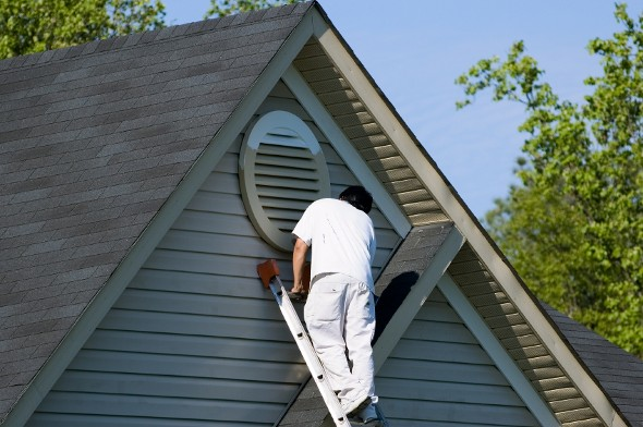 The Average Cost To Paint A House Smartasset Winter House Home Maintenance House Exterior