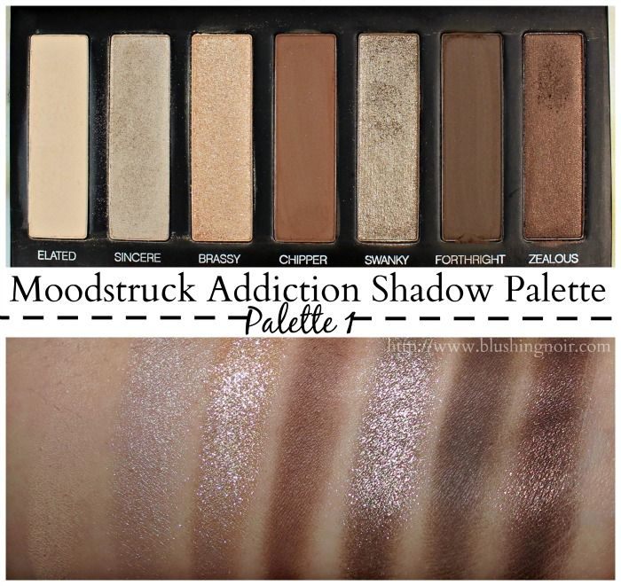Très Younique Moodstruck Addiction Shadow Palette 1 (swatches  FY14