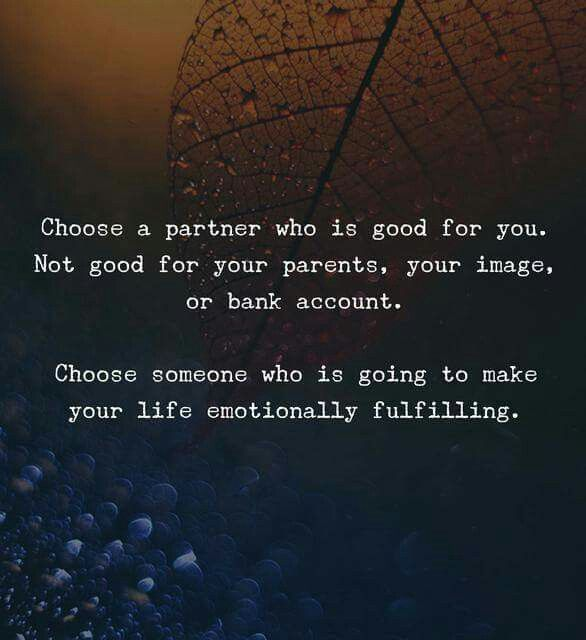 Choose Your Partner Wisely Quotes Pinterest Quotes Life