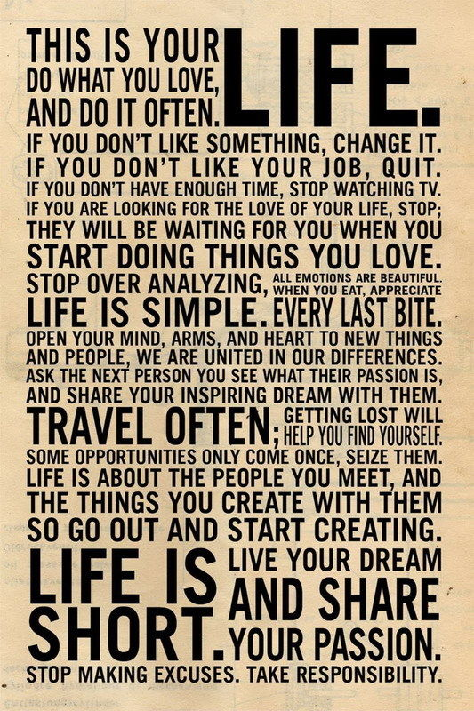 Motivational inspirational quote positive life poster picture print wall art 074 Kunstplakate