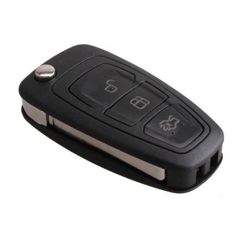 New Replacement 3 Button Folding Flip Remote Key Fob With 63 Chip For Ford Focus Ford Focus Key Fob Replacement Replacement Car