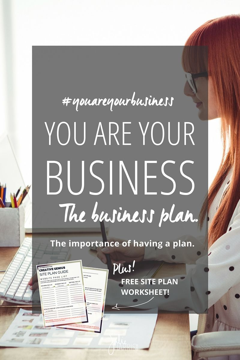 You Are Your Business The business plan. The importance