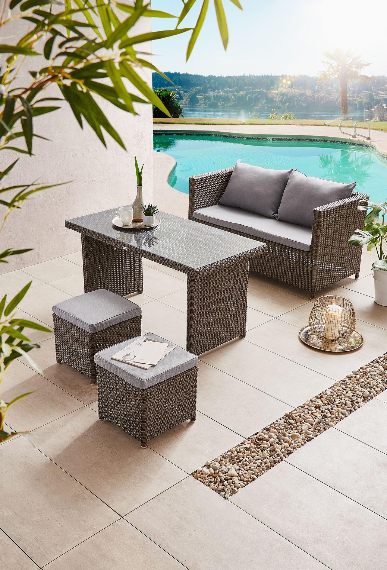 gartenmobel fur terrasse, verträumte rattan lounge - gartenmöbel für die terrasse, Design ideen