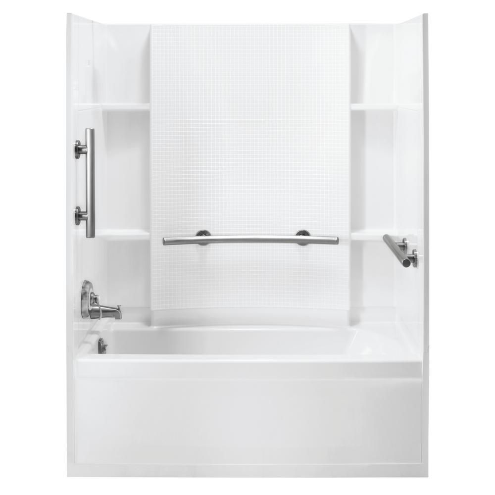 Sterling Accord 30 In X 60 In 3 Piece Snap Together Installation