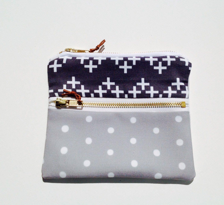 Ivy double zip purse 16cm x 14cm (6 4