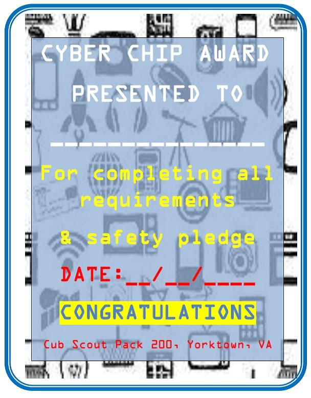 Instant Recognition or presentation certificate for the CYBER CHIP ...