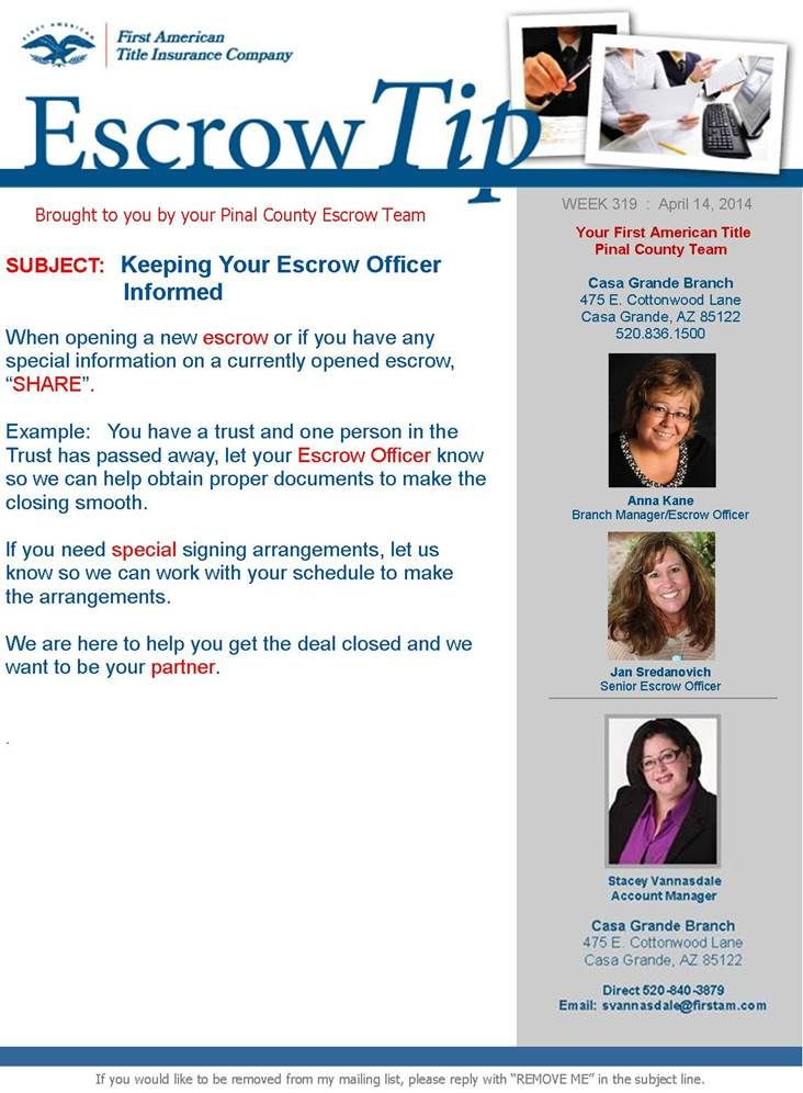Keeping Your Escrow Officer Informed What Is Escrow Escrow