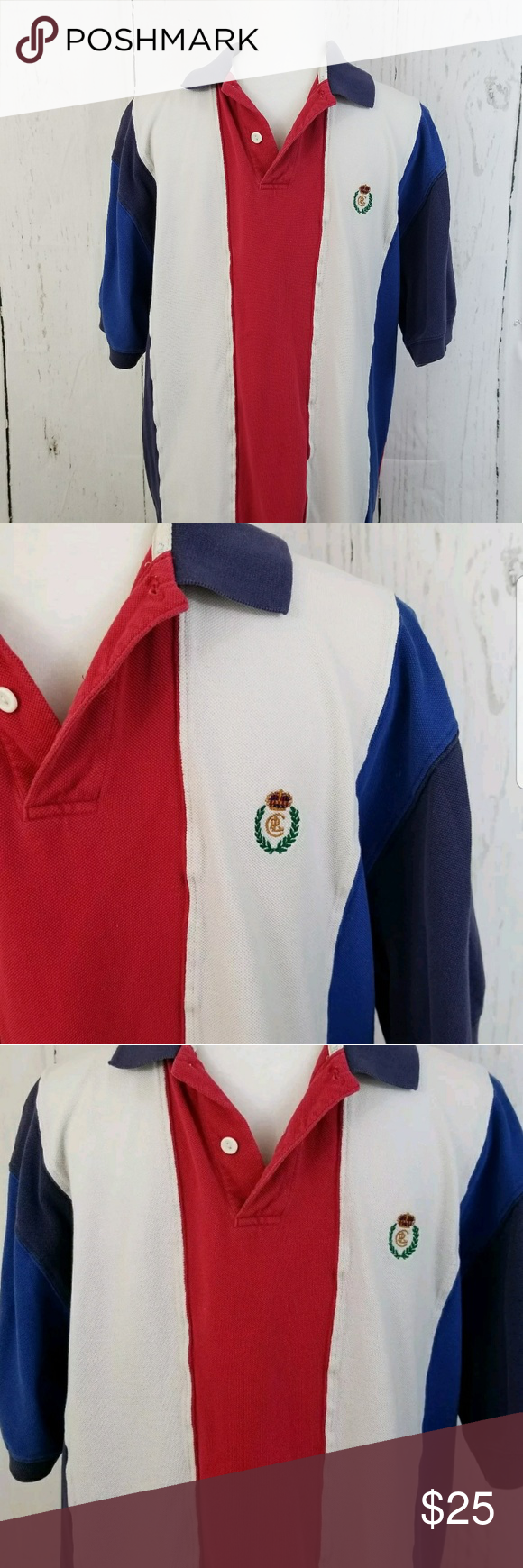 1ae7f69e952 ... coupon code for vintage chaps ralph lauren polo shirt mens large  vintage chaps ralph lauren red