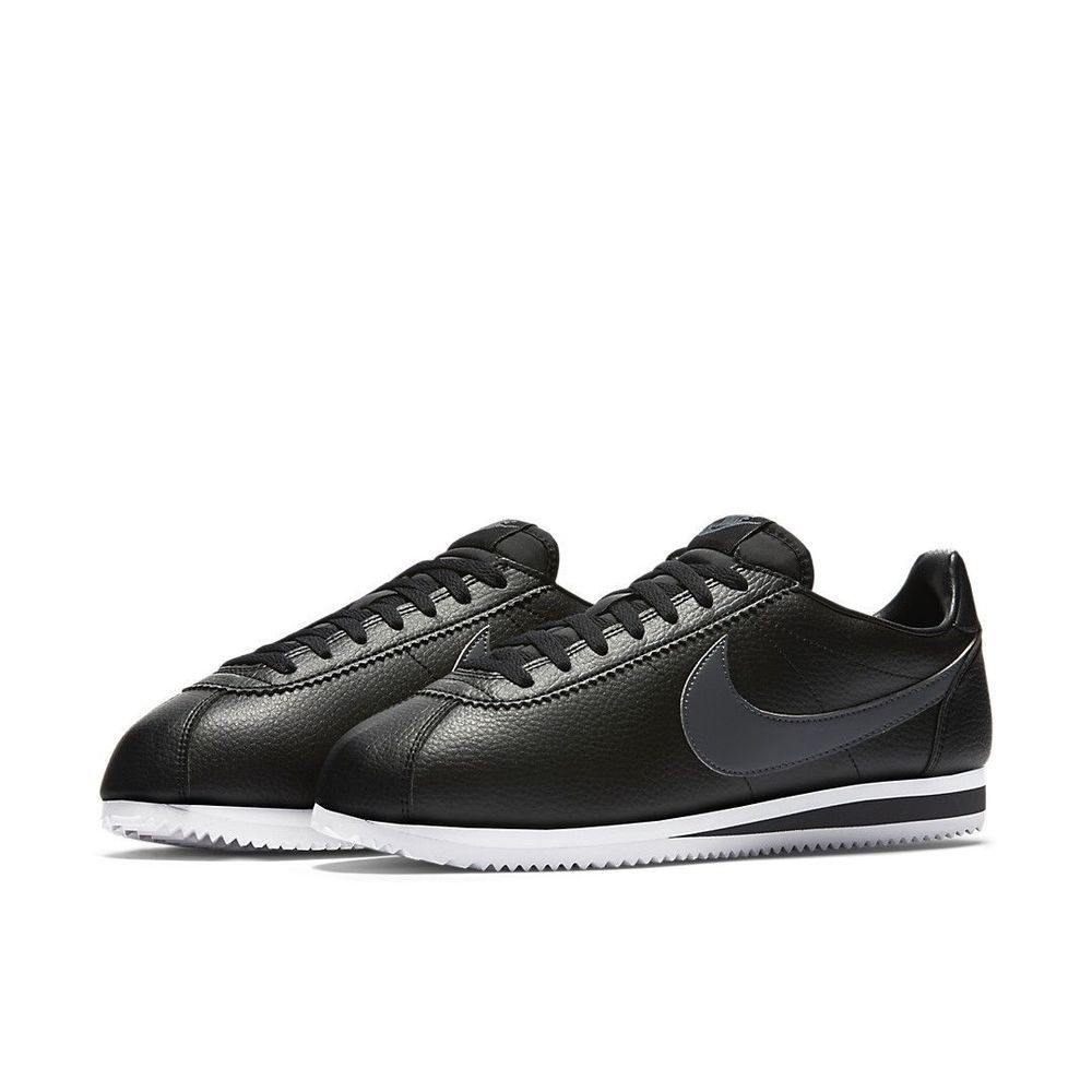 san francisco 38706 d8da3 Nike Classic Cortez Leather Running Shoes Mens 9 Black Dark ...