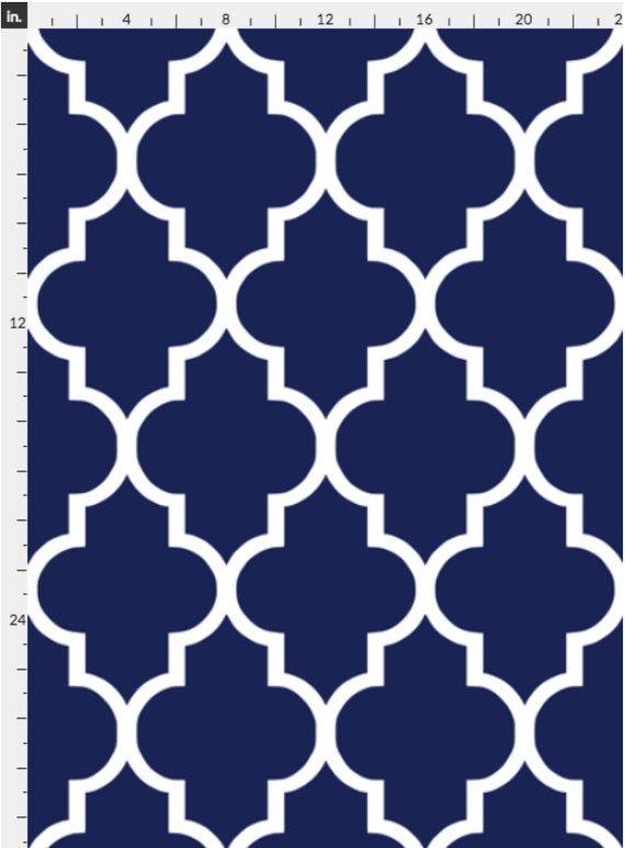 Blue Wallpaper Classic Navy White Quatrefoil By Willow Lane Etsy In 2020 Blue Wallpapers Wallpaper Quatrefoil