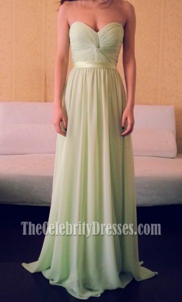 Strapless Prom Bridesmaid Dress Evening Gown Celebrity Inspired ...