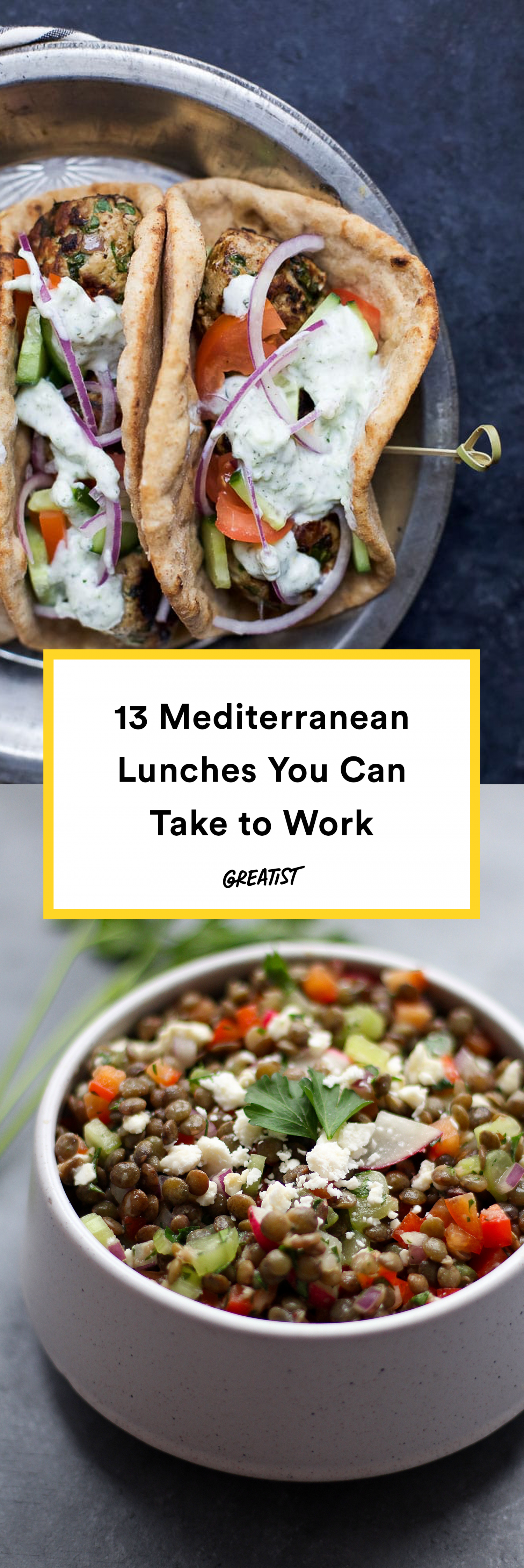 13 Mediterranean Diet Lunches That Make Meals at a Desk Way Better images