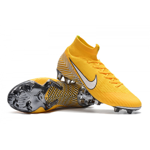 Nk Mercurial Superfly Vi 360 Elite Neymar Fg Soccer Cleats Yellow Football Boots Cool Football Boots Mercurial Football Boots