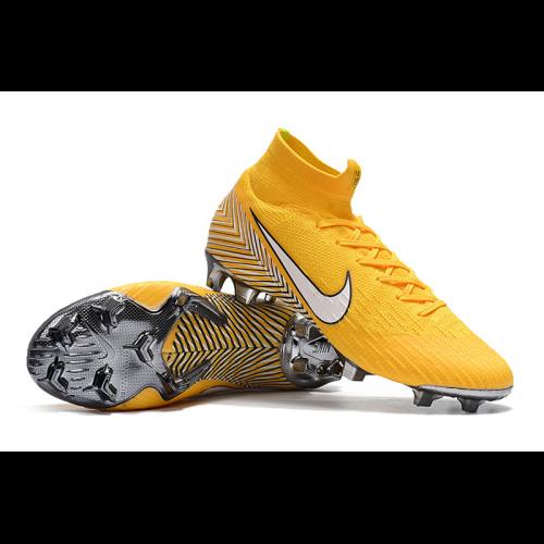ccf24620b2 NK Mercurial Superfly VI 360 Elite Neymar FG Soccer Cleats-Yellow