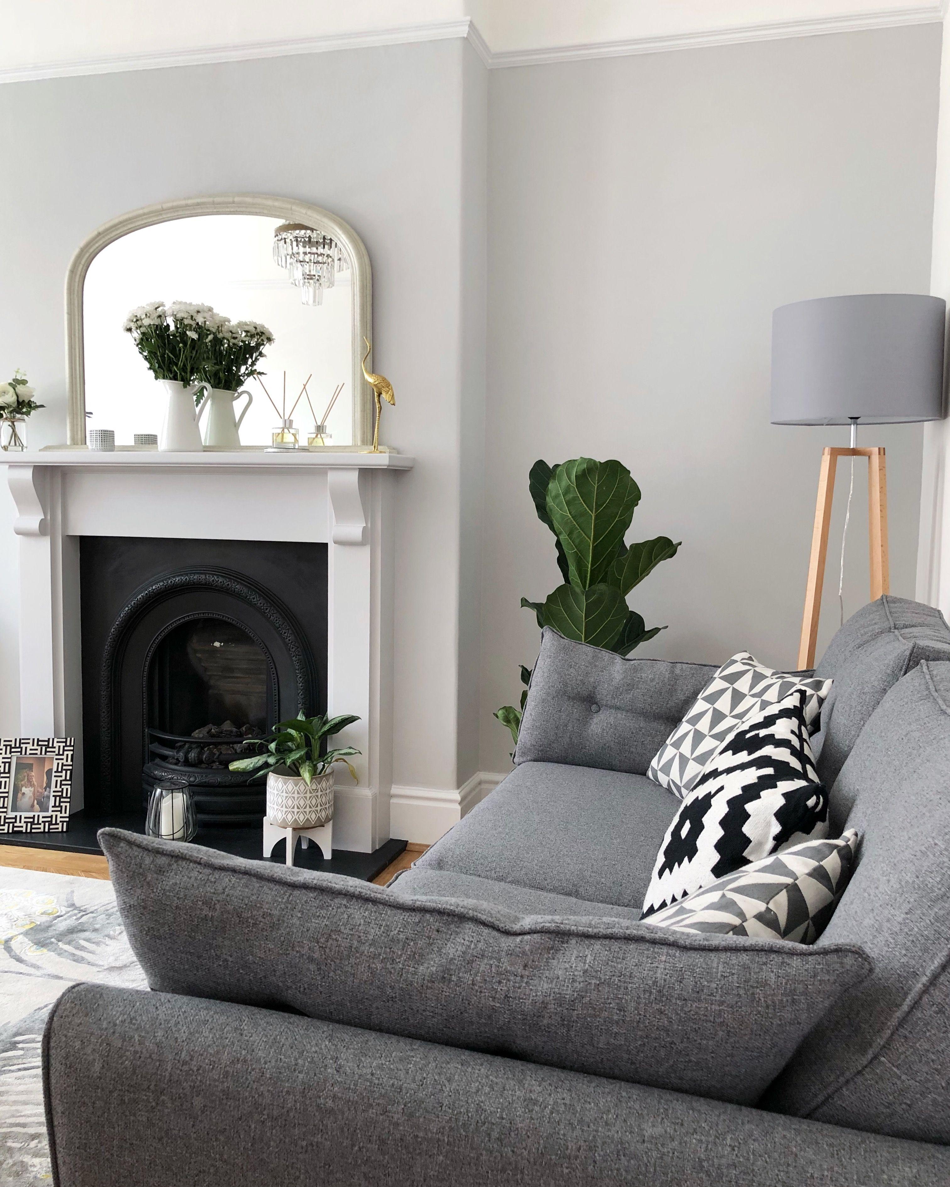 Farrow And Ball Dimpse On Wall And Fireplace Farrowand