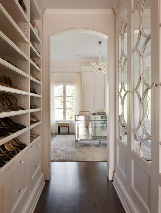 Built In Shoe Shelves Mirrored Dresser And Beautiful Closet Doors