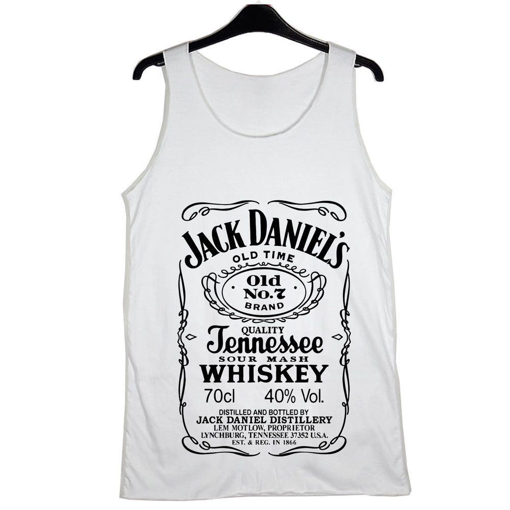 39c4826528b New Jack Daniels Women Tank Top White Black T- Shirts