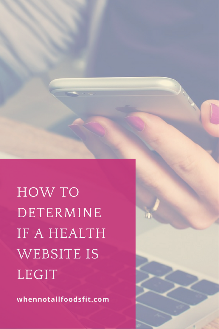 It S Confusing To Determine If A Health Website Is Legitimate Or If Everything Is Made Up Or Stretching The Truth Check Out My How Health Health Blog Website