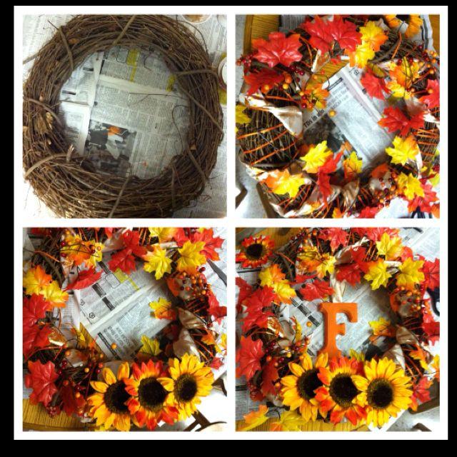 Diy Monogram Fall Wreath: My DIY Monogram Fall Wreath! #fall Decorating