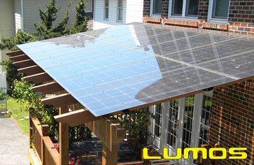 Solar Terrasse panneaux solaire sur un toit d une terrasse couverte déco