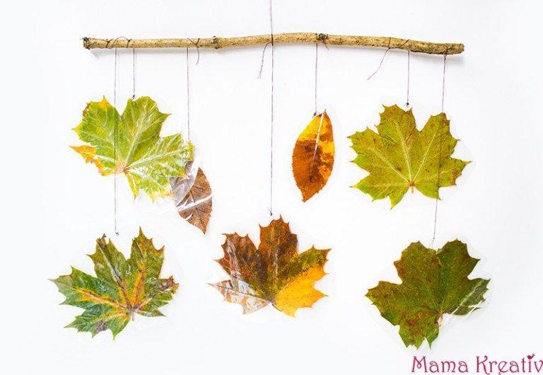 Basteln mit Kindern im Herbst : 8 Ideen mit Naturmaterialien