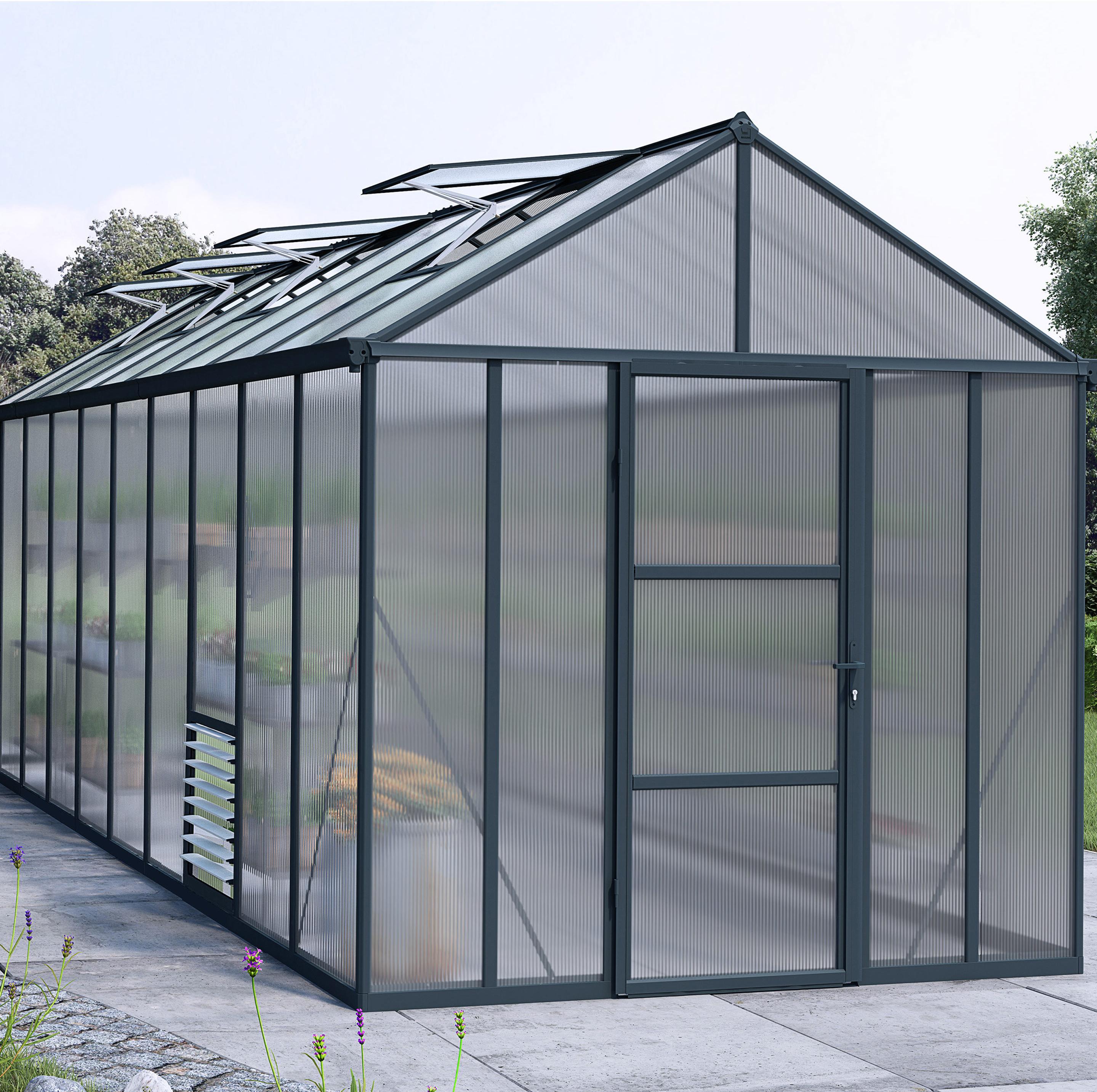 Serre De Jardin Glory 14 3 M Aluminium Et Polycarbonate Double Parois Palram Serre Jardin Polycarbonate Paroi