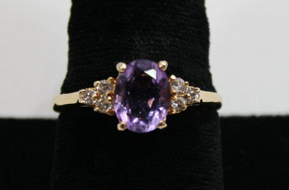 Amethyst oval and Cubic zirconia stones set in by BigFendersPawn