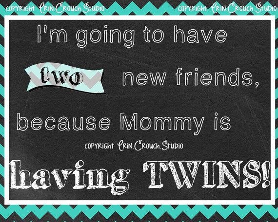New item for sale in my Etsy store!  Mommy is Having Twins Pregnancy Announcement by ErinCrouchStudio, $7.00  (no, I'm not having twins!)