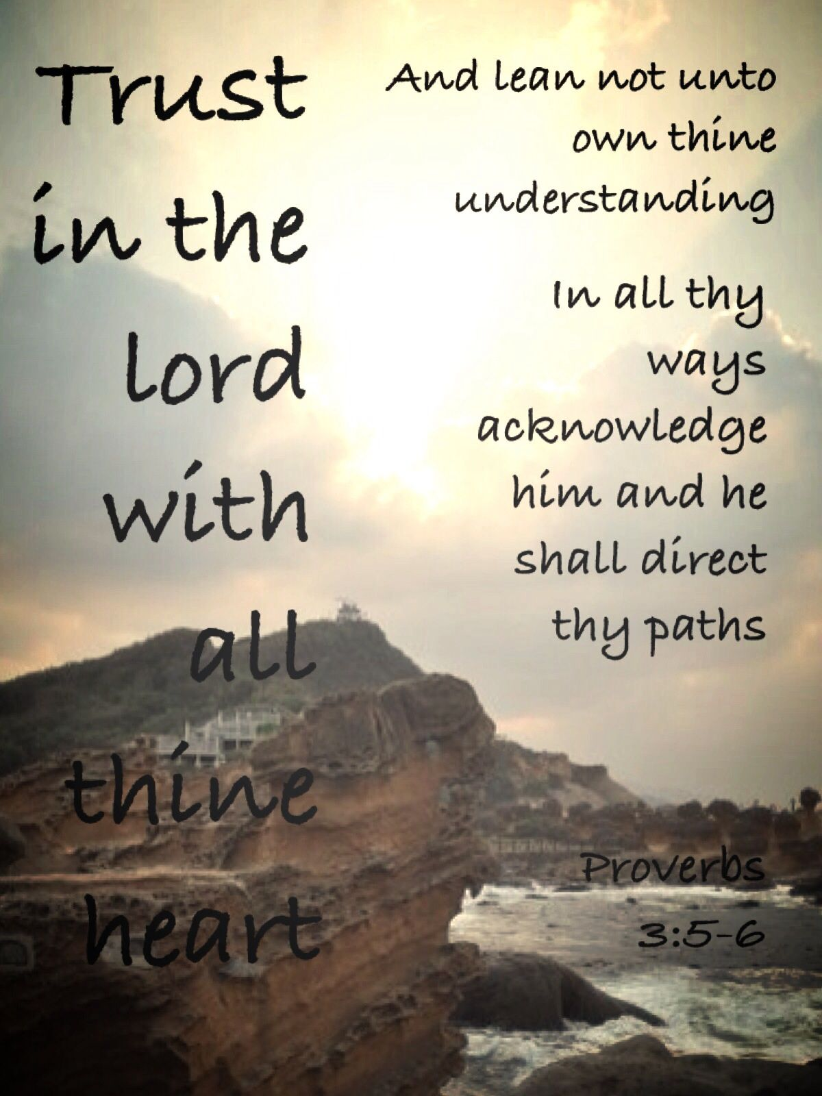 Trust In The Lord With All Thine Heart My Typography Church Quotes
