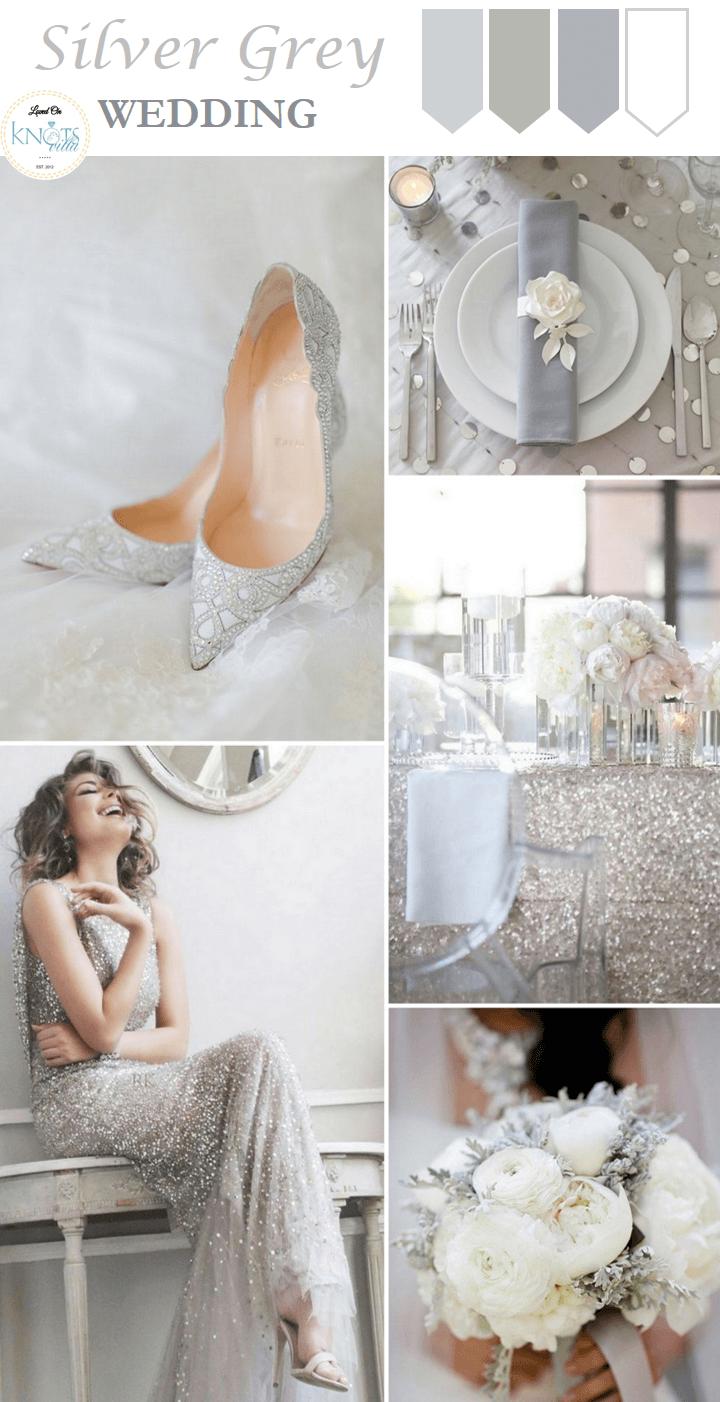 Silver Grey Wedding Inspiration | Pinterest | Grey weddings, Grey ...