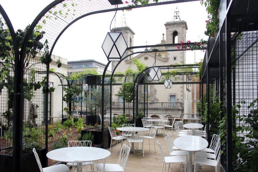 Flax Kale Barcelona Outdoor Restaurant Design Barcelona