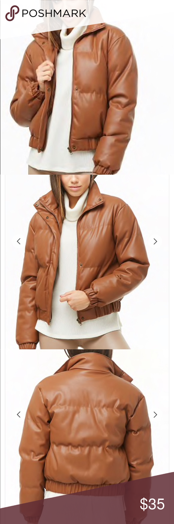 Faux Leather Puffer Jacket Forever 21 Leather Puffer Jacket Jackets Puffer Jackets [ 1740 x 580 Pixel ]